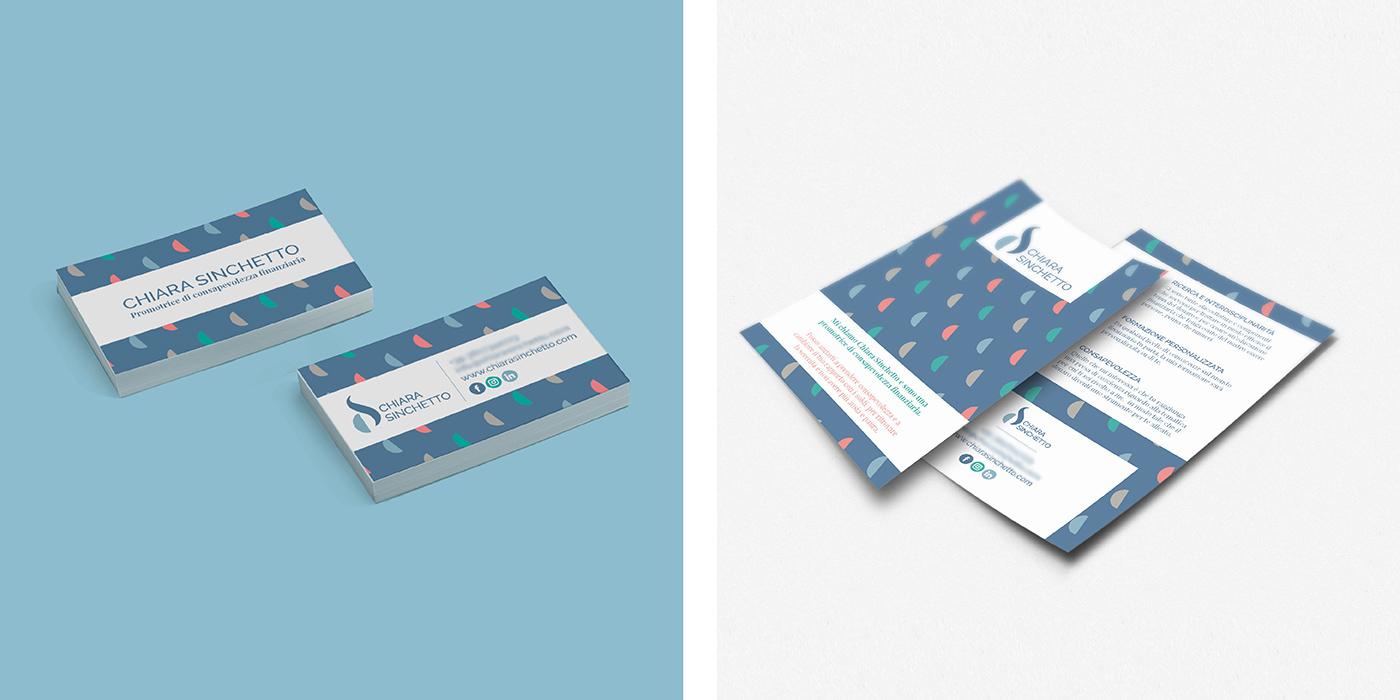 Chiara Sinchetto Identità visiva biglietto visita e cartolina di Laura Calascibetta graphic designer