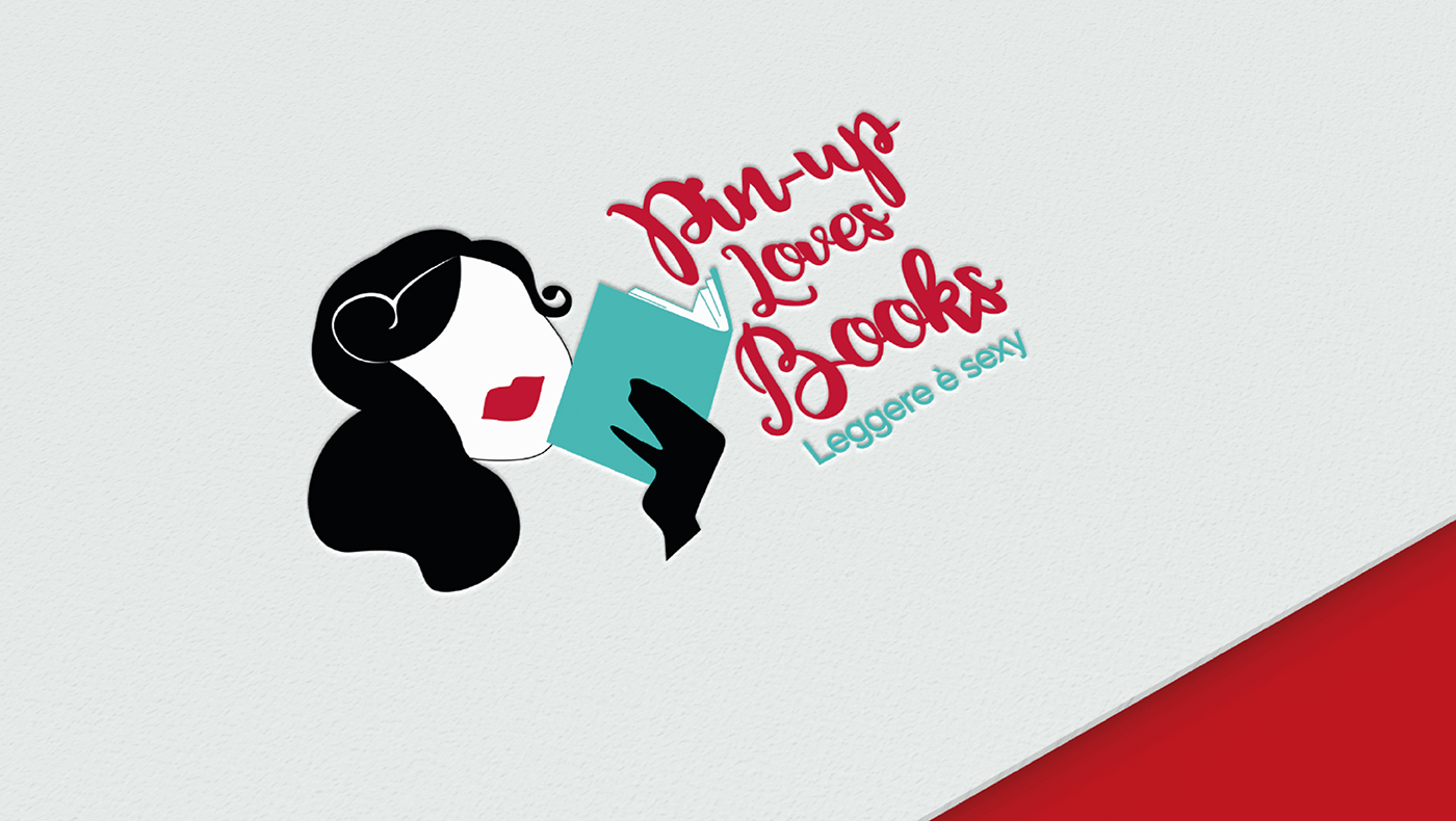 9PM Pin-up Loves Books Presentazione portofolio logo mockup