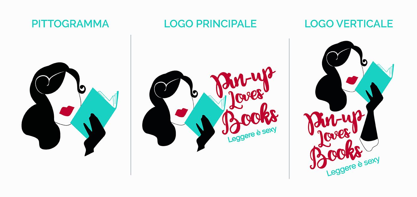9PM Brand Unici: Pin-Up Loves Books logo, blog post di Laura Calascibetta graphic designer