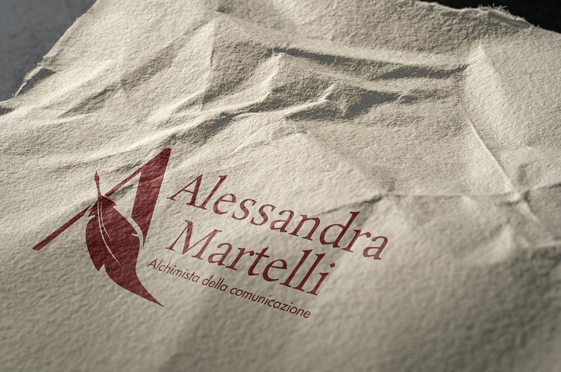 Alessandra Martelli mock-up progettazione logo, portfolio Laura Calascibetta Graphic Designer