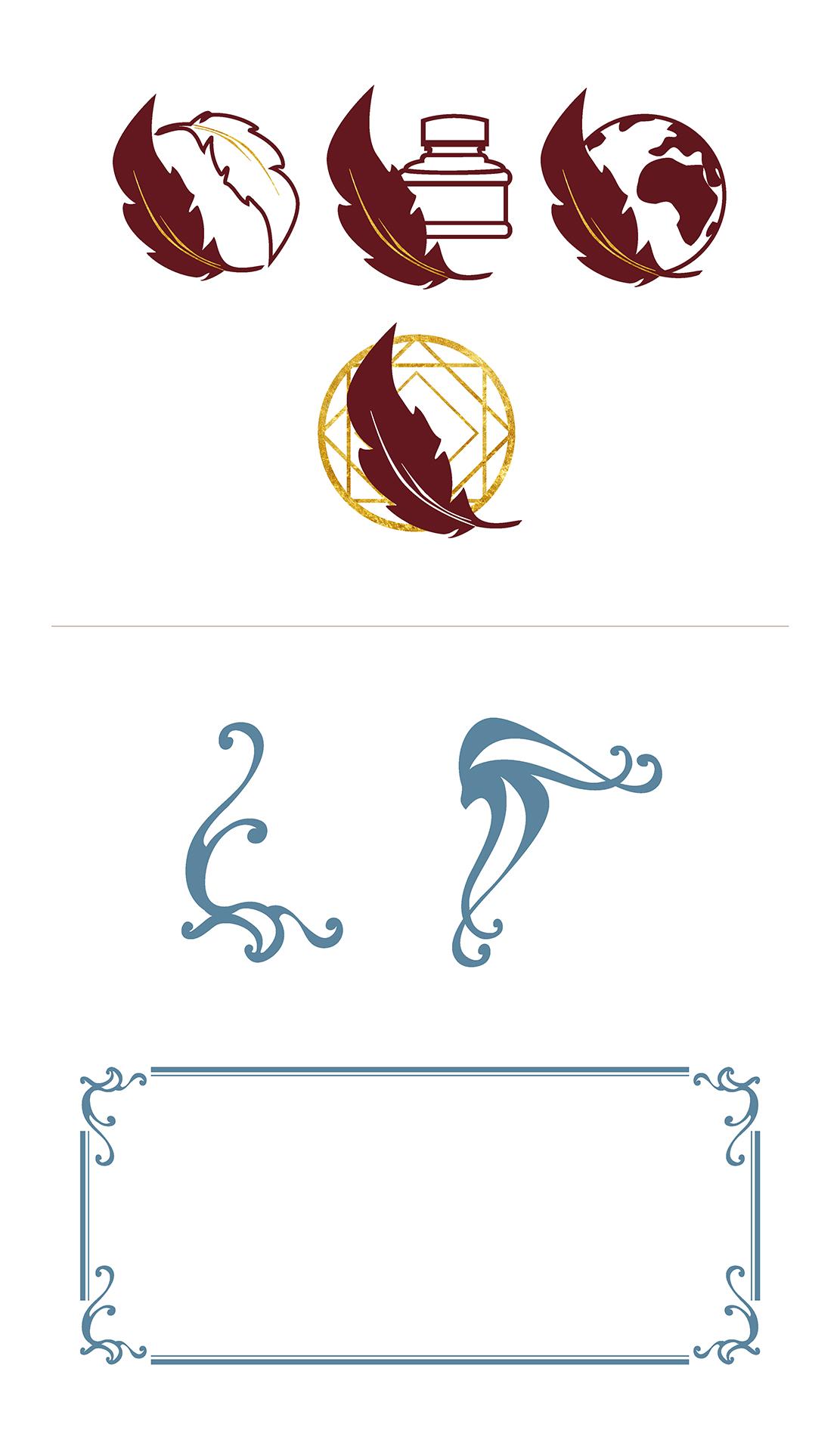 Alessandra Martelli progettazione icone e cornici, portfolio Laura Calascibetta Graphic Designer