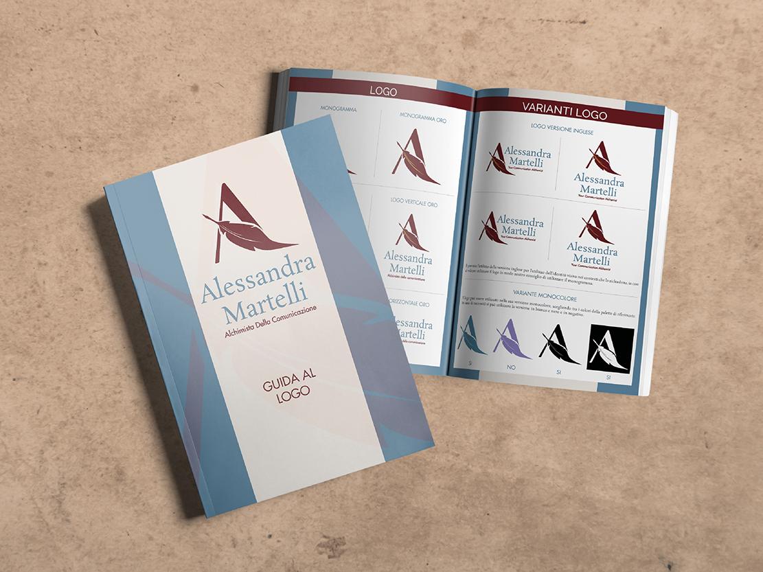 Alessandra Martelli guida al logo, portfolio Laura Calascibetta Graphic Designer